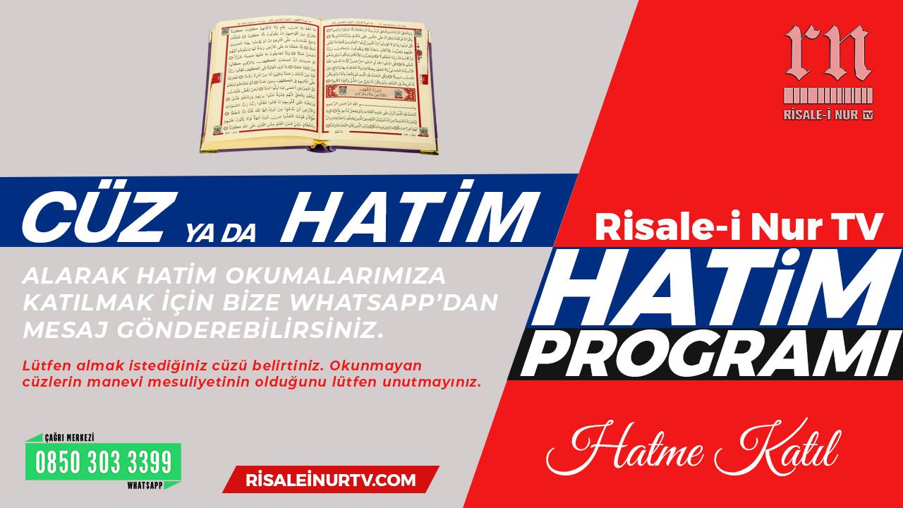 Risale-i Nur TV Hatim Programı